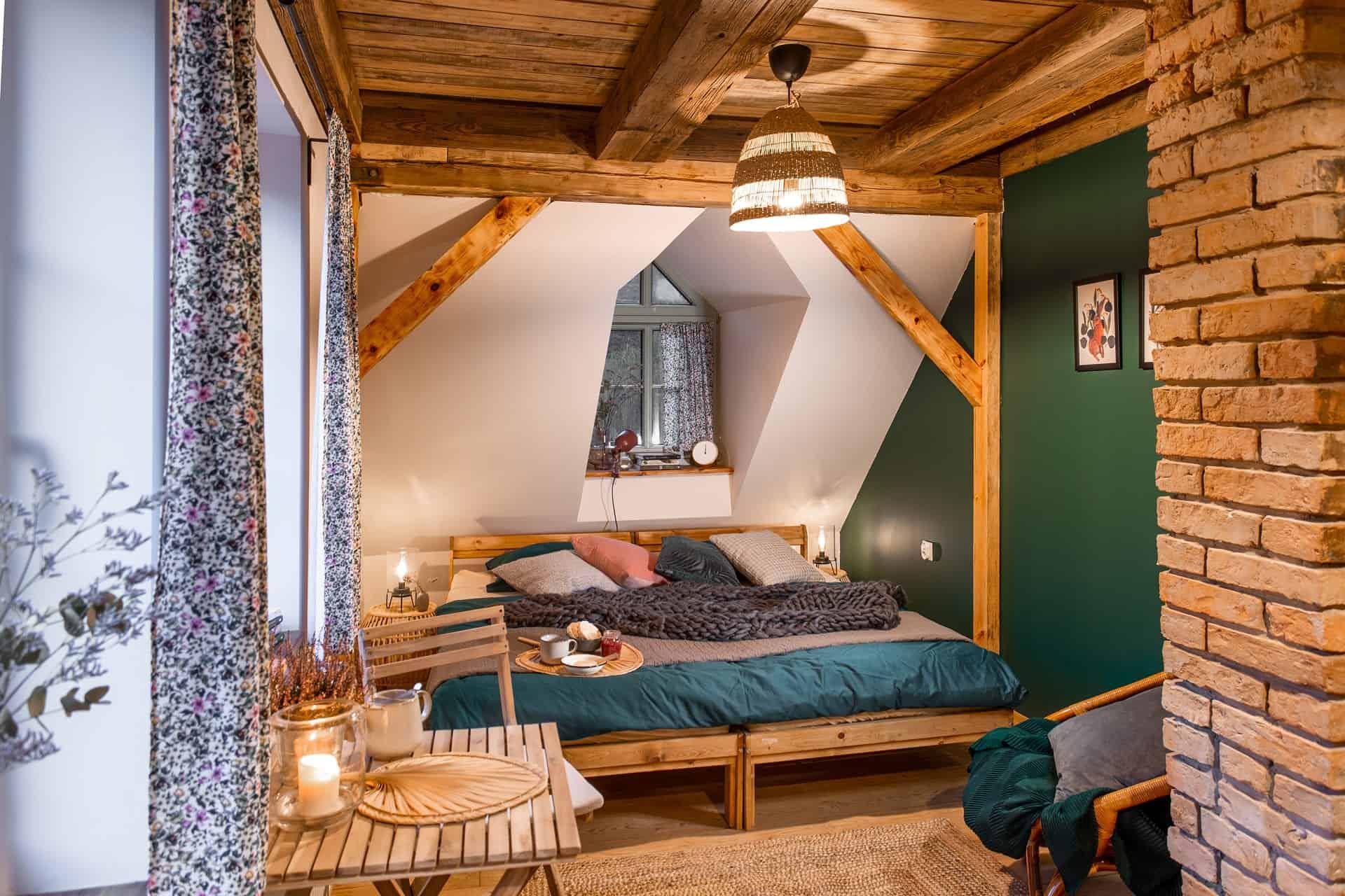 Pokój nr 1 Roślinny - młyn Tomaryny